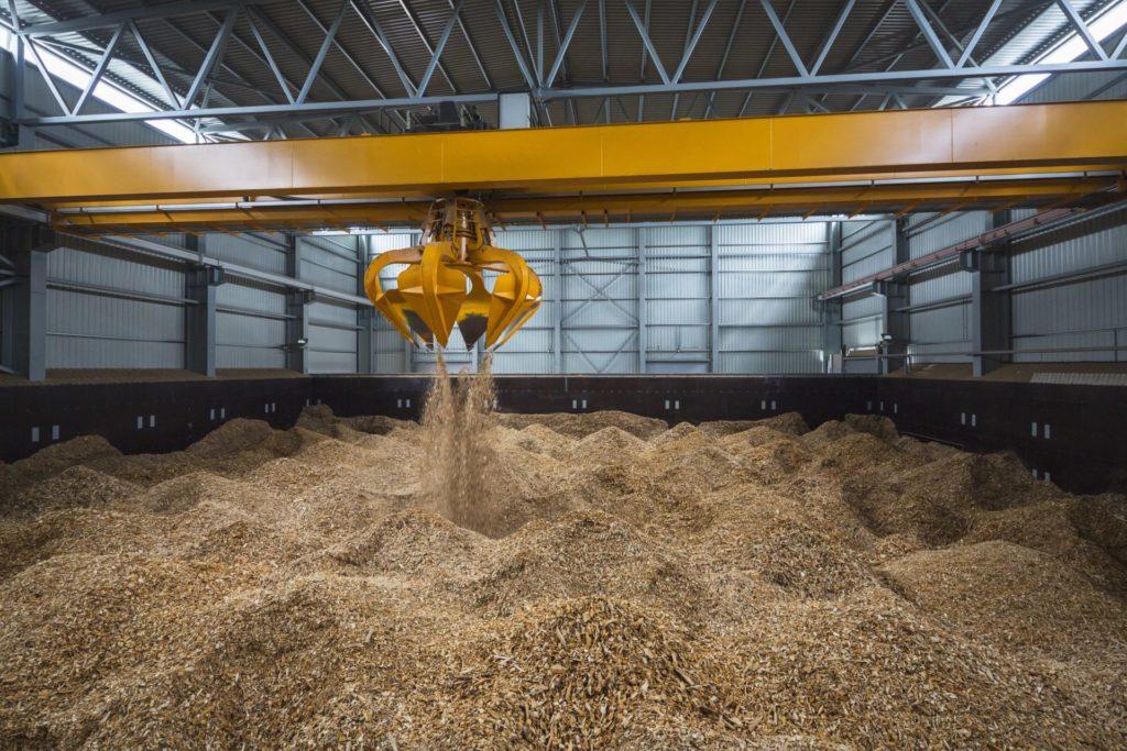 Ein Biomasse-Kraftwerk von innen
